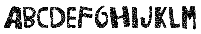 Woodcutter Noise Font LOWERCASE