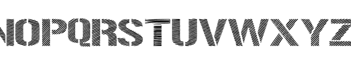 Woodcutter Optical Army Font UPPERCASE