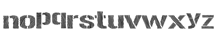 Woodcutter Optical Army Font LOWERCASE