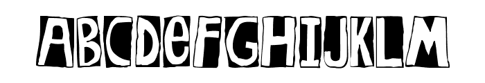 Woodcutter Rocks Font UPPERCASE