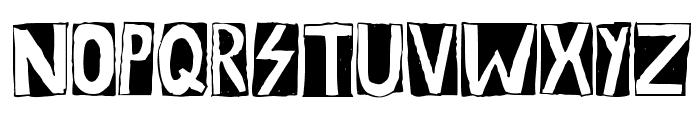 Woodcutter Rocks Font LOWERCASE