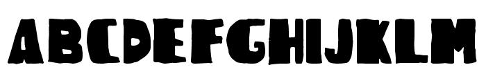 Woodcutter Rude Press Font UPPERCASE