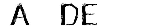 Wooden Font UPPERCASE