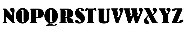 WoodenNickelBlack Font UPPERCASE