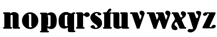 WoodenNickelBlack Font LOWERCASE