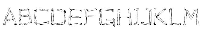 Woodenhead Font UPPERCASE