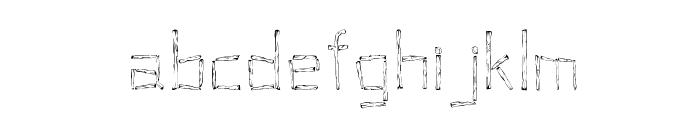 Woodenhead Font LOWERCASE