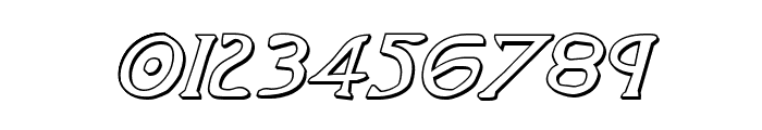 Woodgod 3D Italic Font OTHER CHARS