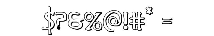 Woodgod 3D Regular Font OTHER CHARS