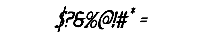 Woodgod Bold Condensed Italic Font OTHER CHARS