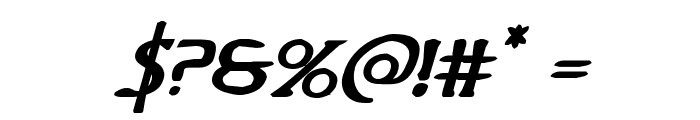 Woodgod Bold Expanded Italic Font OTHER CHARS