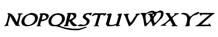 Woodgod Bold Expanded Italic Font UPPERCASE