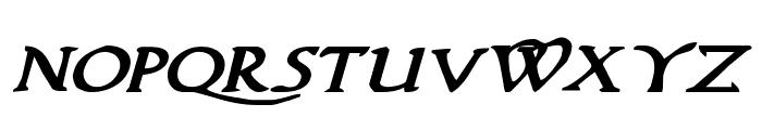 Woodgod Bold Expanded Italic Font LOWERCASE