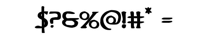 Woodgod Bold Expanded Font OTHER CHARS