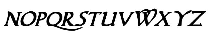 Woodgod Bold Italic Font UPPERCASE