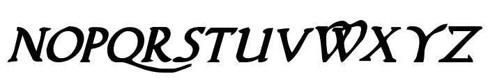 Woodgod Bold Italic Font LOWERCASE