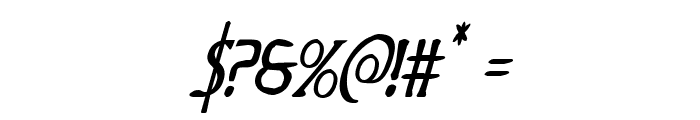 Woodgod Condensed Italic Font OTHER CHARS