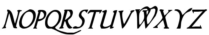 Woodgod Condensed Italic Font UPPERCASE