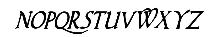 Woodgod Condensed Italic Font LOWERCASE