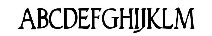 Woodgod Condensed Font UPPERCASE