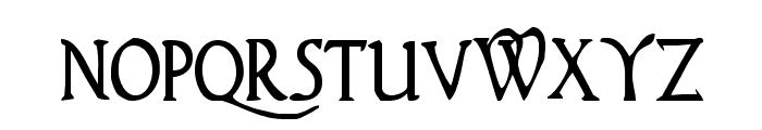 Woodgod Condensed Font LOWERCASE