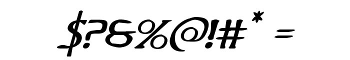 Woodgod Expanded Italic Font OTHER CHARS