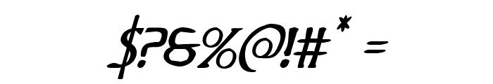 Woodgod Italic Font OTHER CHARS