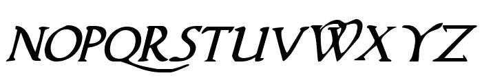 Woodgod Italic Font UPPERCASE