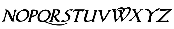 Woodgod Italic Font LOWERCASE