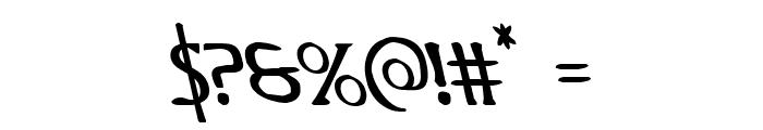 Woodgod Leftalic Font OTHER CHARS