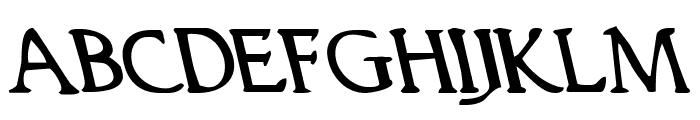 Woodgod Leftalic Font UPPERCASE