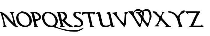 Woodgod Leftalic Font LOWERCASE