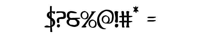 Woodgod Regular Font OTHER CHARS