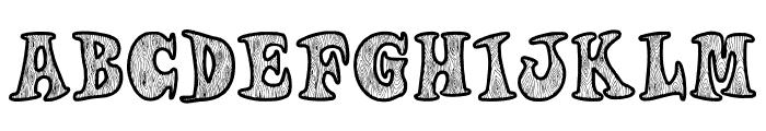 Woodys Font UPPERCASE