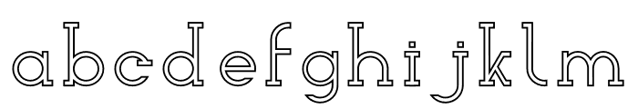 Woolacombe Outline Font LOWERCASE
