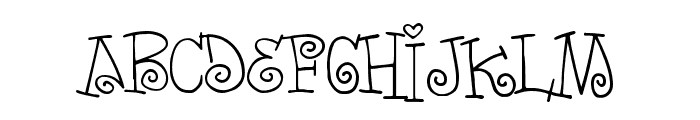 Words of love Font LOWERCASE