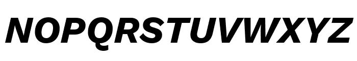 Work Sans Bold Italic Font UPPERCASE