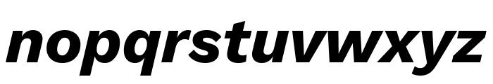 Work Sans Bold Italic Font LOWERCASE