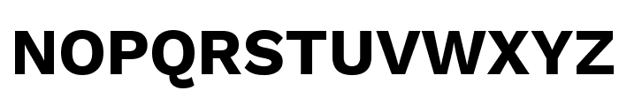 Work Sans Bold Font UPPERCASE