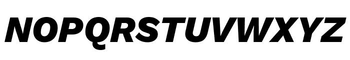 Work Sans ExtraBold Italic Font UPPERCASE