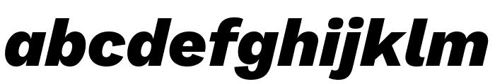 Work Sans ExtraBold Italic Font LOWERCASE