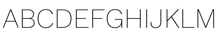 Work Sans ExtraLight Font UPPERCASE