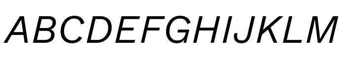 Work Sans Italic Font UPPERCASE