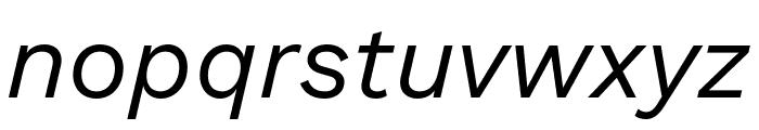 Work Sans Italic Font LOWERCASE