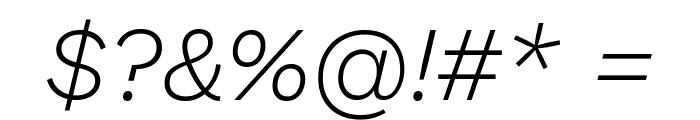 Work Sans Light Italic Font OTHER CHARS