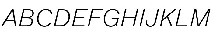 Work Sans Light Italic Font UPPERCASE