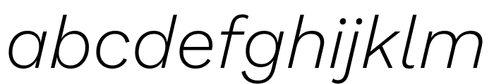 Work Sans Light Italic Font LOWERCASE