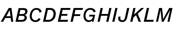 Work Sans Medium Italic Font UPPERCASE