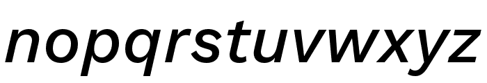 Work Sans Medium Italic Font LOWERCASE