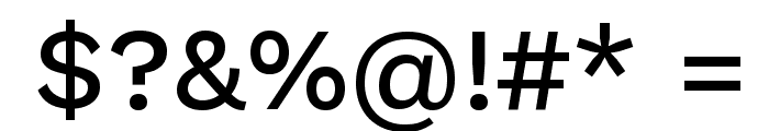 Work Sans Medium Font OTHER CHARS